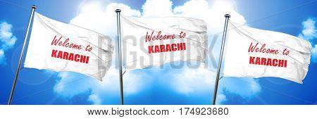 Welcome to karachi, 3D rendering, triple flags
