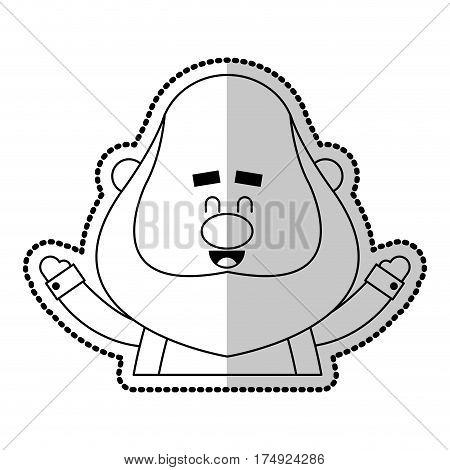 happy chubby man cartoon icon image vector illustration design