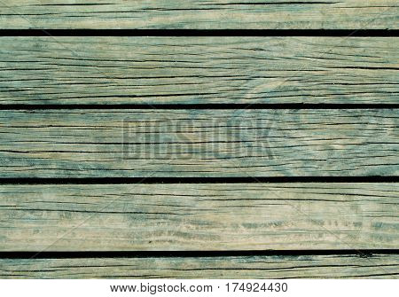 Blue wood background. Natural wood texture with horizontal lines. Wooden background for banner. Timber texture closeup. Horizontal wooden planks of floor backdrop photo. Natural material for banner