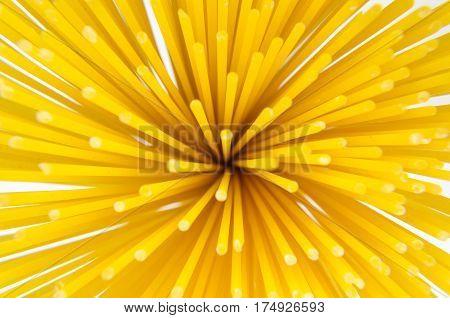 Blur Background Of Vermicelli Spaghetti, Pasta From Durum Wheat.