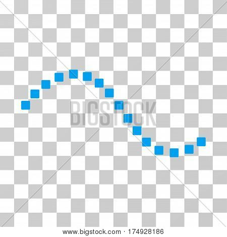 Dotted Function Line icon. Vector illustration style is flat iconic symbol blue color transparent background. Designed for web and software interfaces.