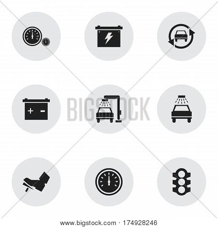 Set Of 9 Editable Vehicle Icons. Includes Symbols Such As Tuning Auto, Vehicle Wash, Car Lave And More. Can Be Used For Web, Mobile, UI And Infographic Design.
