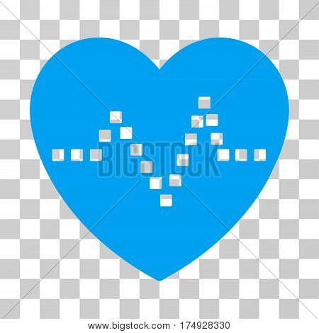 Heart Pulse icon. Vector illustration style is flat iconic symbol blue color transparent background. Designed for web and software interfaces.