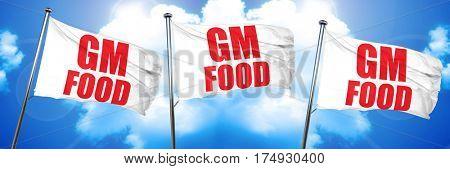 gm food, 3D rendering, triple flags