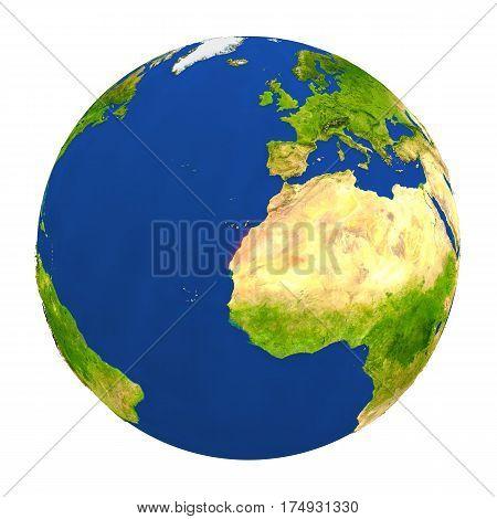 Western Sahara Highlighted On Earth