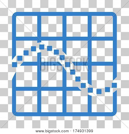 Function Chart icon. Vector illustration style is flat iconic symbol cobalt color transparent background. Designed for web and software interfaces.