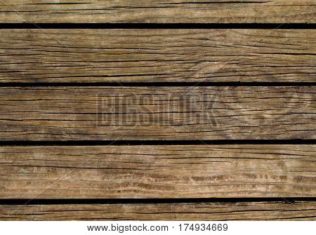 Brown wood background. Natural wood texture with horizontal lines. Wooden background for banner. Timber texture closeup. Horizontal wooden planks of floor backdrop photo. Natural material for banner