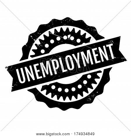 Unemployment rubber stamp. Grunge design with dust scratches. Effects can be easily removed for a clean, crisp look. Color is easily changed.