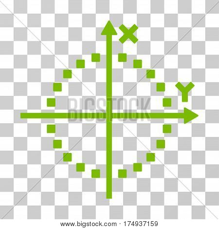 Circle Plot icon. Vector illustration style is flat iconic symbol, eco green color, transparent background. Designed for web and software interfaces.