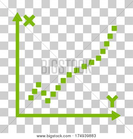 Function Plot icon. Vector illustration style is flat iconic symbol, eco green color, transparent background. Designed for web and software interfaces.