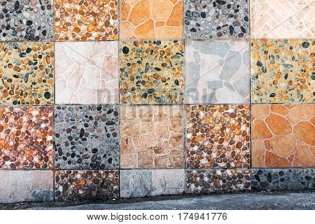 Abstract Authentic Background Of The Old Wall Is Lined With Slabs Of Natural Stone