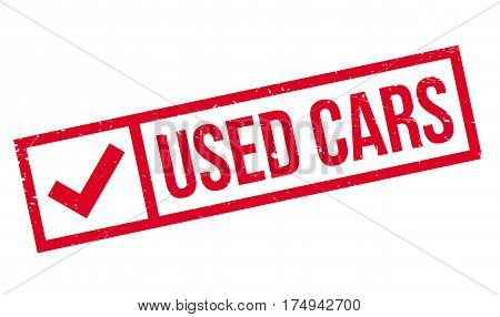 Used Cars rubber stamp. Grunge design with dust scratches. Effects can be easily removed for a clean, crisp look. Color is easily changed.