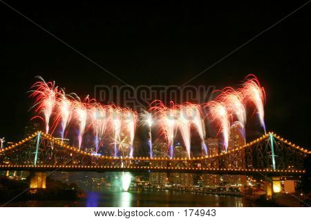 Fireworks With Copyspace