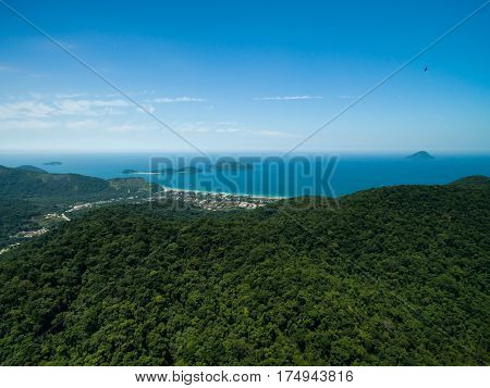 Aerial View of Juquehy Beach, Sao Sebastiao, Sao Paulo, Brazil