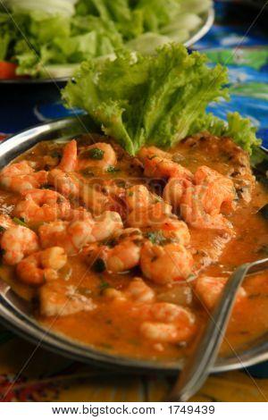 Filet And Shrimps
