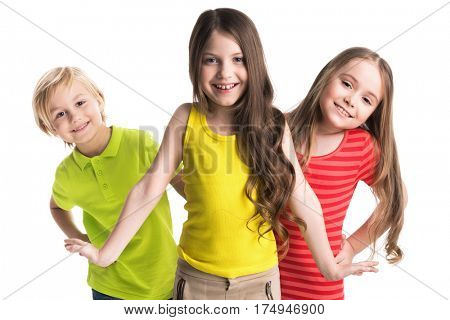 Happy smiling children