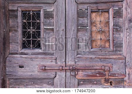 Old wodden door for background and texture