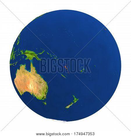 Vanuatu Highlighted On Earth