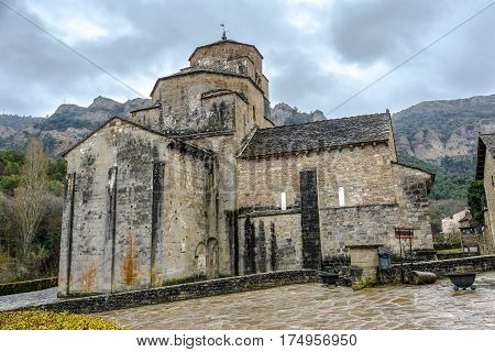 Church of Santa Maria in Santa Cruz de la Seros Huesca Aragon Spain