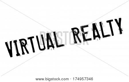Virtual Realty rubber stamp. Grunge design with dust scratches. Effects can be easily removed for a clean, crisp look. Color is easily changed.