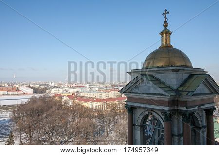 View Of St. Petersburg From Height Of St. Isaac's Cathedral