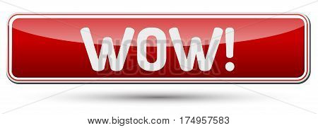 Wow - Abstract Beautiful Button With Text.