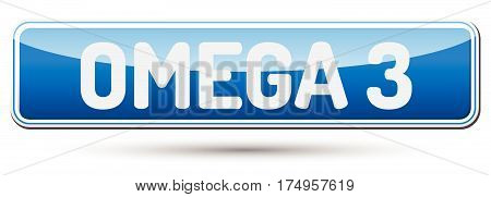 Omega 3 - Abstract Beautiful Button With Text.