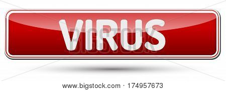 Virus - Abstract Beautiful Button With Text.