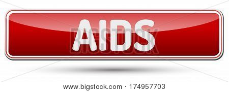 Aids - Abstract Beautiful Button With Text.