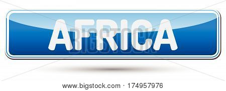 Africa - Abstract Beautiful Button With Text.