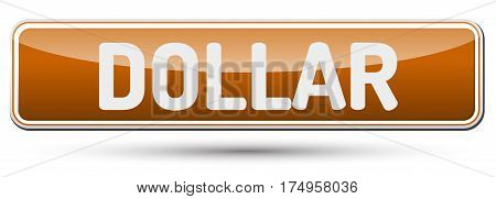 Dollar - Abstract Beautiful Button With Text.