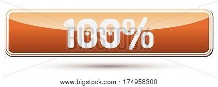 100% - Abstract Beautiful Button With Text.