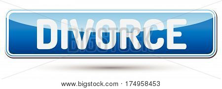 Divorce - Abstract Beautiful Button With Text.