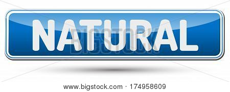 Natural - Abstract Beautiful Button With Text.