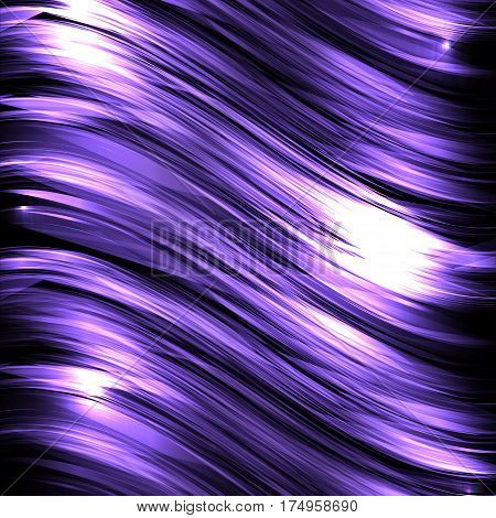 Abstract background with luminous wavy lines on a dark background. Vector background for your creativity
