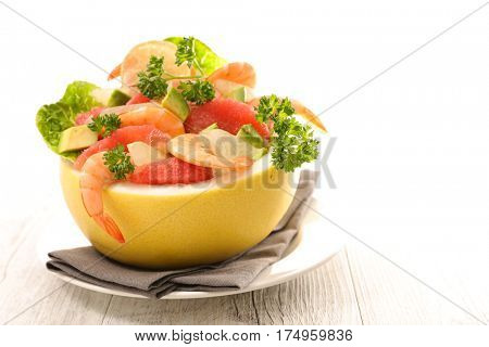 grapefruit garnish for entree