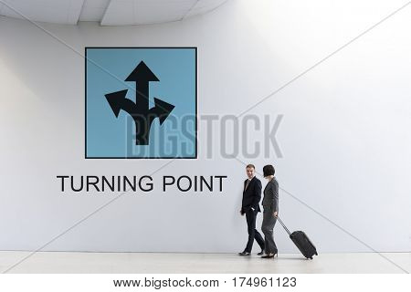 Turning Point Business Concept