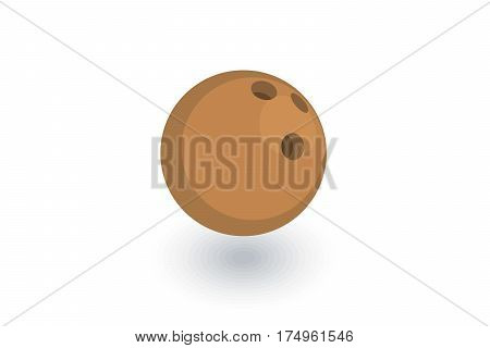 bowling ball isometric flat icon. 3d vector colorful illustration. Pictogram isolated on white background