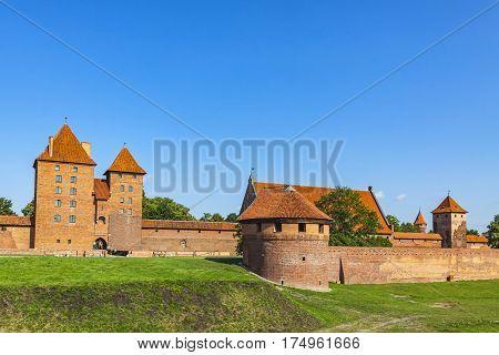 Malbork Castle In Pomerania Region Of Poland