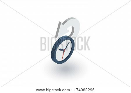 history, past time isometric flat icon. 3d vector colorful illustration. Pictogram isolated on white background