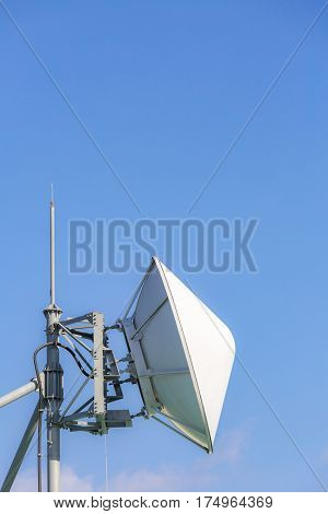 Big telecommunication satellite and radio transmitter