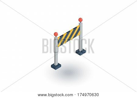 fence light construction isometric flat icon. 3d vector colorful illustration. Pictogram isolated on white background