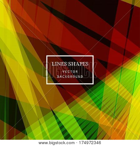 Modern technology striped abstract background with copy space vector. Yellow red black geometric grid stripes direct lines dynamic for presentation banner brochure poster website and flyer design