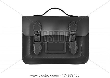 Black Satchel isolated on a white background
