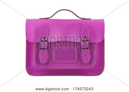 Pink Satchel isolated on a white background