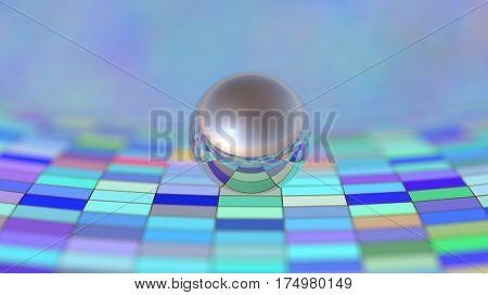 curved surface, 3d illustration