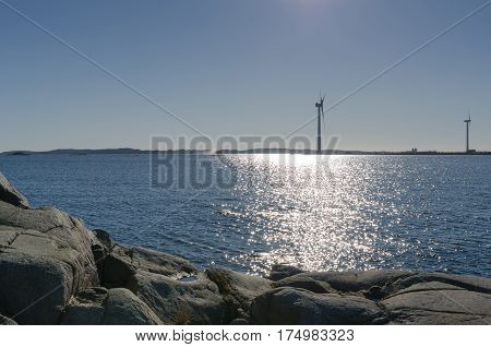 outside Gothenburgs harbour on the swedish west-coast the place is Arendal