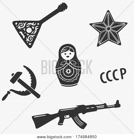 Vector Symbols Set Russia Stereotypes eps 8 file format