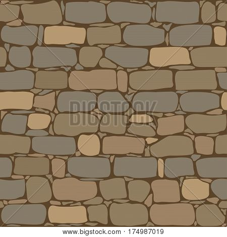 Old brick wall - seamless pattern background