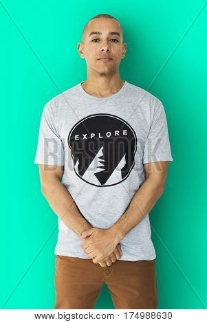 A Man with an Explore T-shirt